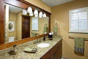 Craftsman Full Bathroom with Simple Granite, Raised panel, Simple granite counters, Undermount sink