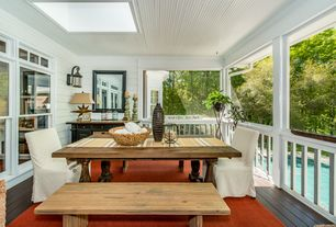 Cottage Deck with Paint 1, Skylight, Deck Railing, double-hung window