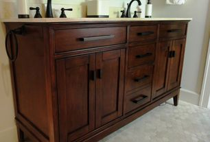 Craftsman Master Bathroom with Paint 1, Signature Hardware Tobacco Madison Double Vanity for Undermount Sinks