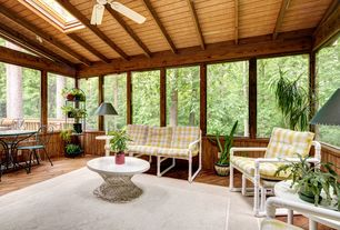 Eclectic Porch with Screened porch, Skylight
