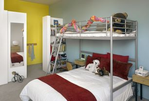 Modern Kids Bedroom with Standard height, Carpet, no bedroom feature