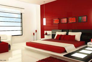 Contemporary Master Bedroom with Howard Elliott Tall Contemporary Vase Sculpture, Standard height, Pendant light