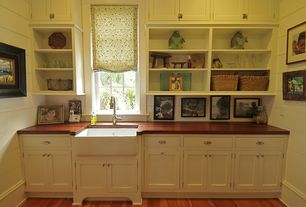 """Traditional Mud Room with 30"""" Reinhard 925071 Fireclay Farmhouse Sink"""