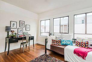 Contemporary Kids Bedroom with no bedroom feature, Hardwood floors, Standard height, Casement, picture window