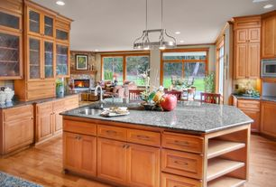 Traditional Kitchen with Innovations Light Cherry Laminate Flooring, MS International Blaco Taupe Granite