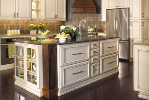 Traditional Kitchen with Ms international-multi color 4 in. x 4 in. tumbled slate floor and wall tile