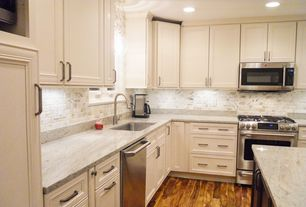 Traditional Kitchen with Raised panel, Complex granite counters, Cuisinart Grind and Brew Coffee Maker, L-shaped