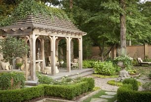 Traditional Landscape/Yard with Trellis, Fence, Gazebo, Pathway