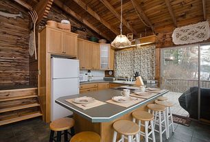 "Country Kitchen with Glass panel, slate tile floors, Winsome Basics 30"" Bar Stool (Set of 2), U-shaped, Stone Tile, Flush"