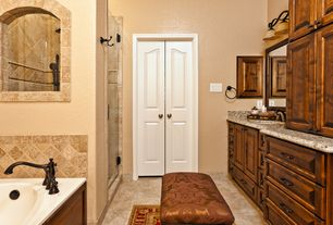 Traditional Master Bathroom with Master bathroom, Simple Granite, Daltile - Jurastone Beige Natural Limestone Tile