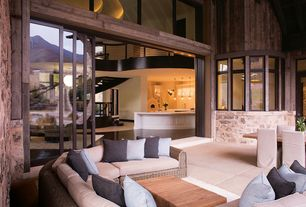 Contemporary Patio with Outdoor living room, Restoration Hardware Belvedere Table, Marvin Ultimate Lift and Slide Door
