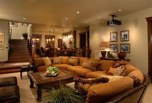 Craftsman Basement with Standard height, can lights, Carpet