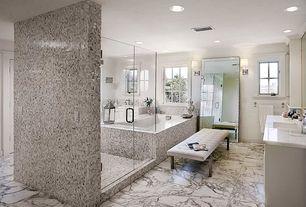 Traditional Master Bathroom with Raised panel, Maxim Lighting Inque 1 - Light Wall Sconce, Master bathroom, Undermount sink