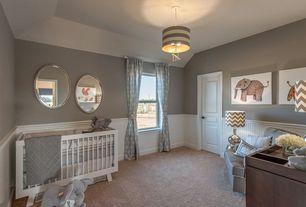 Traditional Kids Bedroom with no bedroom feature, Rosenberry Rooms Uncle Walter Drum Pendant, Pendant light, specialty door