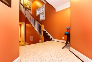 Traditional Hallway with High ceiling, Crown molding, quartz floors