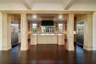 Traditional Kitchen with Handscraped tobacco canyon acacia 3/8 in. t x 4-3/4 in. x 47-1/4 in. click lock hardwood flooring (2
