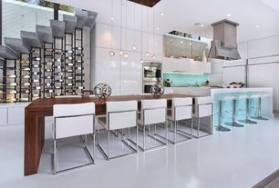 Contemporary Kitchen with Custom wine storage, Castleton Home Willow Park Adjustable Height Airlift Bar Stool, Kitchen island
