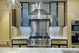 Contemporary Kitchen with Corian-Solid Surface Countertop in Designer White