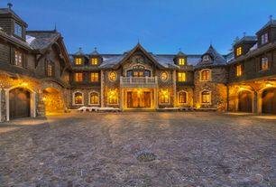 Rustic Exterior of Home with Natural stone exterior