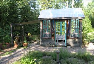 Cottage Landscape/Yard with Outdoor sunroom