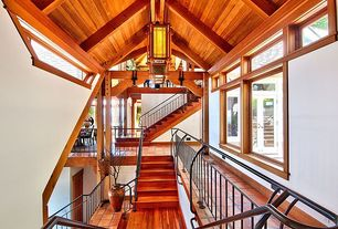 Staircase with Standard height, Exposed beam, Floating staircase, Casement, picture window, Laminate floors