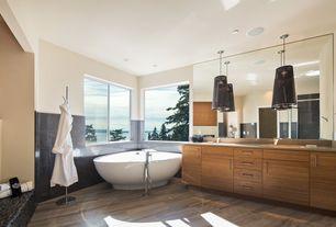 "Contemporary Master Bathroom with Signature Hardware 67"" Coley Acrylic Freestanding Tub, European Cabinets, Master bathroom"