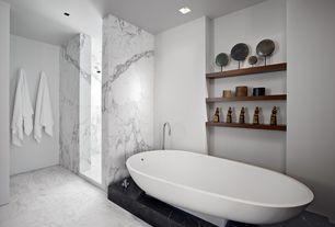 "Contemporary Master Bathroom with Freestanding, Master bathroom, Victoria & Albert VNAPNLH ""Napoli"" Unique Size Soaking Tub"
