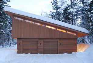 Contemporary Garage with High ceiling