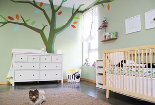 Contemporary Kids Bedroom with Nursery decals n more on etsy - kids room tree decals with leaves, nursery wall decal, Paint