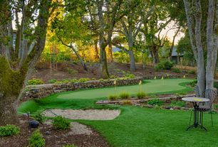 Traditional Landscape/Yard with Back yard putting green