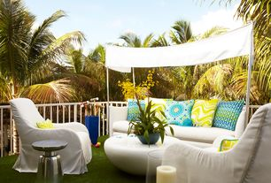Contemporary Patio with Oleander Outdoor Sofa with Canopy