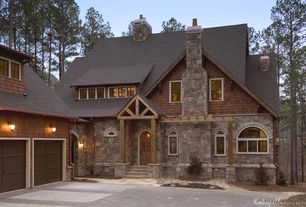 Rustic Exterior of Home with Eldorado stone broken top willamette, Paint 1