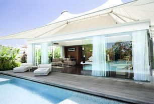 Tropical Swimming Pool with French doors