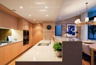 Modern Kitchen with Kitchen island, Flush, Kitchenaid 30-inch 5 burner gas cooktop, architect? series ii - stainless steel