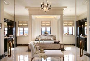 Traditional Master Bathroom with simple marble tile floors, Castleton home bishop chaise lounge khaki, Flush, Soapstone