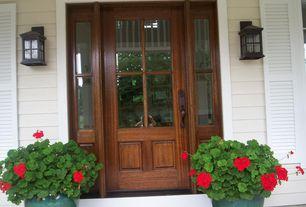 Craftsman Front Door with Glass panel door