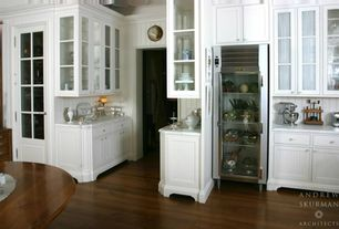 Traditional Kitchen with L-shaped, Summit Commercial Series SCR1400WX Refrigerator, Pental Calacatta Statuario Honed Marble