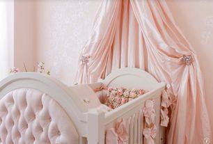 Traditional Kids Bedroom with Tufted baby crib
