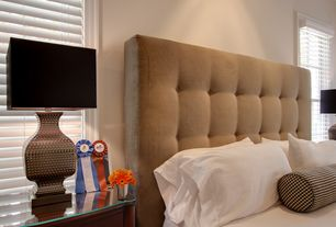 Contemporary Master Bedroom with Crown molding