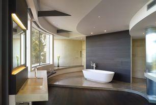 Contemporary Master Bathroom with Concrete floors, Undermount sink, Daltile porcelain tile - yacht club series bridge deck