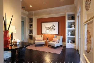 Traditional Living Room with Bramble now provence end table, Porter Design Conchology Buccinum Print Only, High ceiling