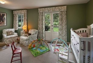 Traditional Kids Bedroom with French doors, Casement, flush light, Carpet, Standard height, no bedroom feature