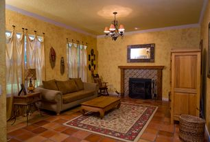 Brown Living Room Terracotta Tile Floors Zillow Digs