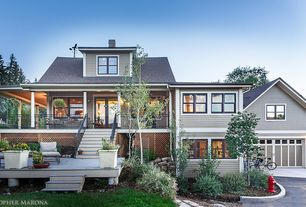 Craftsman Exterior of Home with Wrap around porch, Paint