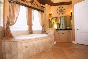 Mediterranean Full Bathroom with Paint 2, specialty door, Full Bath, full backsplash, Raised panel, Inset cabinets, Soapstone