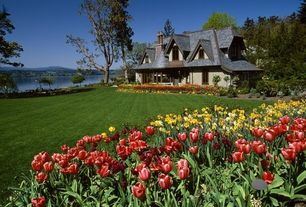 Traditional Landscape/Yard with English cottage style exterior
