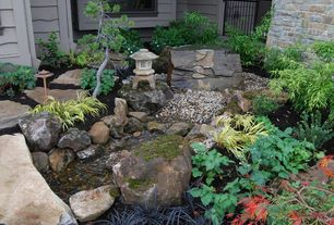 Asian Landscape/Yard with Pathway, exterior stone floors