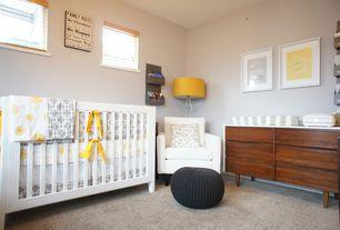 Eclectic Kids Bedroom with Childcraft shoal creek london euro crib - matte white, 6 drawer dresser espresso, Paint, Carpet