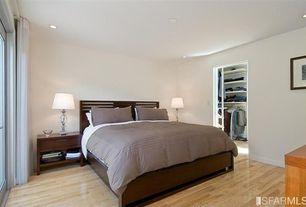 Traditional Master Bedroom with Hardwood floors