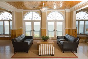 Traditional Living Room with Paint 1, Cameron leather apartment sofa, Graham ottoman